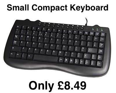 Evo Labs E8118UB Mini USB Wired Keyboard