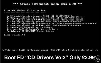 Pc Tech PC CDROM driver Vol 2 FD